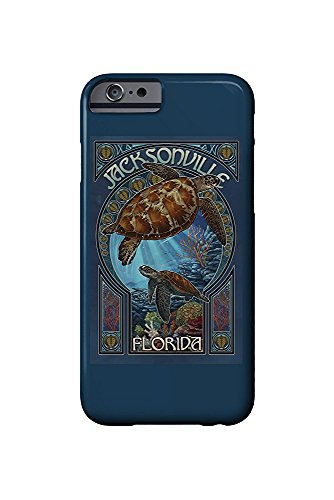 Jacksonville, Florida - Sea Turtle Art Nouveau (iPhone 6 Cell Phone Case, Slim Barely There)