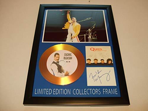 Gold disc frames Freddie Mercury - Disco Oro Firmado