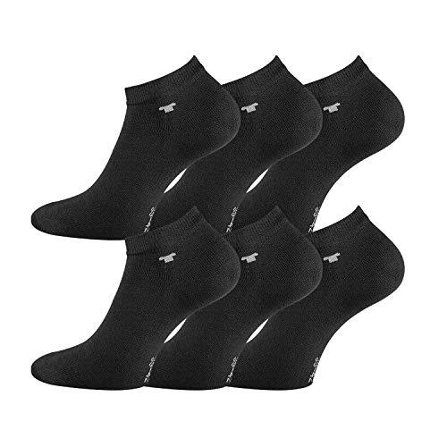 TOM TAILOR Die perfekten Sneaker-Socken für alle Gelegenheiten, 6 Paar oder 12 Paar (Black, 43/46-6 Paar)