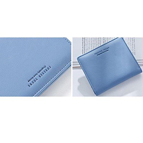 Portafoglio Donna, Tpulling Borsa della borsa del supporto della carta del raccoglitore della borsa della frizione delle donne (Green) Blue
