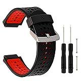 TRUMiRR Silicone Caoutchouc Bracelet de Montre pour Garmin Forerunner 235/220/230/735XT
