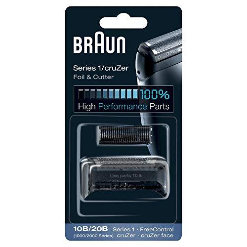 Braun Elektrorasierer Ersatzscherteil 10B/20B, kompatibel mit cruZer und Series 1 Rasierern, schwarz -