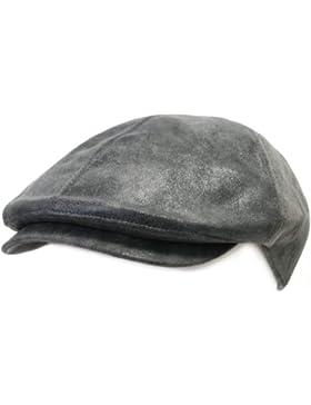 ililily Schirmmütze: Flat Cap gehalten im klassischer Stil, Cabbie (Chauffeurmütze), Gatsby/Ivy Cap, irische Golfermütze...