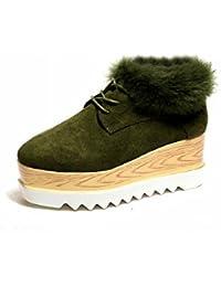 Zapatos Amortiguados con Algodón Grueso Mate Todo Partido , verde , EUR34.5
