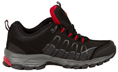 GUGGEN MOUNTAIN, Frauen Trekkingschuhe Damen Wanderschuhe Walkingschuhe Outdoorschuhe Outdoor Schuhe SOFTSHELL T002 Schwarz