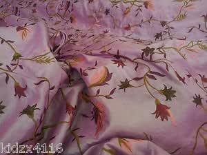 Fabrics Online Uk Heavy Embroidered Italian Pink Silk