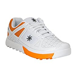 Zeven Crust Mesh Cricket Shoes, Mens (Orange)