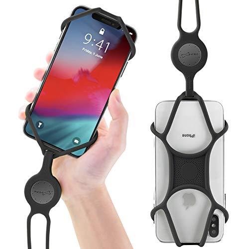 Umhängeband Schlüsselband, Universal Handy Halsband, Elastische Umhängetasche Lanyard für iPhone X XR XS Max 8 7 Plus Samsung Galaxy S9 S8 S7 Huawei - Schwarz ()