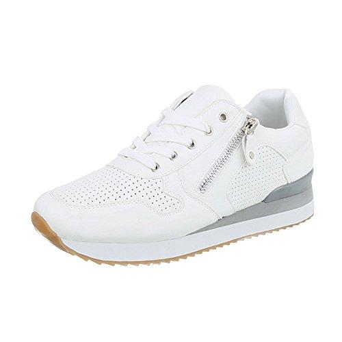 Sneakers Ital-design Basse Scarpe Da Donna Sneakers Basse Sneakers Basse Scarpe Casual Bianche G-86-1