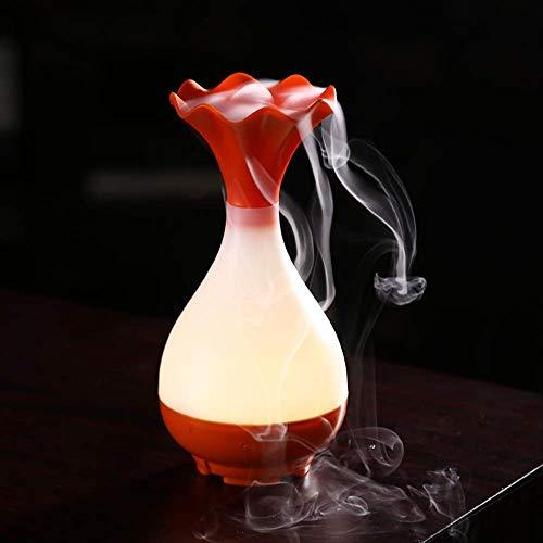 Aromalampen Kzfs Elektrische Ätherisches Öl Räucherstäbchen Brenner Diffusor Aroma Ultraschall Luftbefeuchter Halter Stumm orange - Elektrische öl-brenner