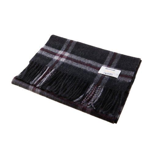 edinburgh-100-lambswool-scottish-tartan-multicolour-scarf-thomson-charcoal-one-size