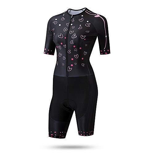 Be82aene Kurzärmelige, atmungsaktive Sommerdamenoberteile, schnell trocknende Anzüge, REIT-Skating-Anzüge Fitness Outdoor Reitbekleidung (Color : Black, Size : XS)