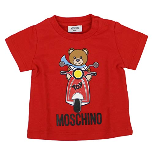 Moschino luxury fashion bimbo msm01hlba1050316 rosso t-shirt | primavera estate 19