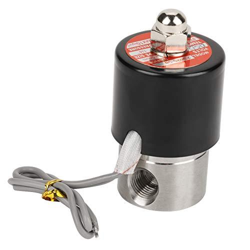 1/4'NPT Latón de acero inoxidable 304 Solenoide eléctrico de la válvula 12VDC Normalmente cerrado VITON Latón macizo Viton Junta de solenoide de la válvula