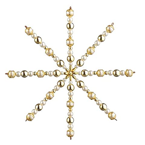 SALE - Large Gold Beaded Star Christmas Ornament Craft Kit