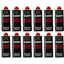 Zippo - Botes de gasolina para mecheros Zippo (12 unidades, 125 ml)