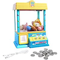 gaeruite Mini Doll Toy Grabber Catch Machine con Control de Volumen para niños, Incluye 5 muñecas, 20 Monedas, Cable de Carga USB