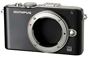 Olympus PEN E-PL3 Single Lens Kit 12.3MP Mirrorless System Camera (Black) with SD Card and PEN Camera Bag