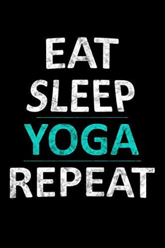 Eat Sleep Yoga Repeat: Cornell Notes Line Paper Journal or Notebook (6x9 inches) with 120 Pages