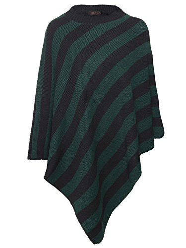 Islander Fashions - Poncho - cardigan -  donna Green Black