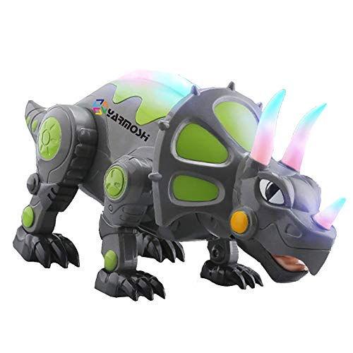 Ydq Elektrisches Dinosaurierspielzeug Der Fernbedienung, Spielzeug Der Triceratops -