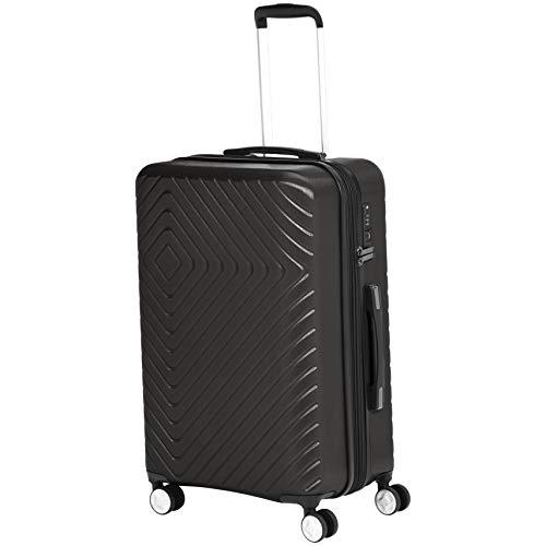 AmazonBasics - Trolley con motivo geometrico, 68 cm, Nero