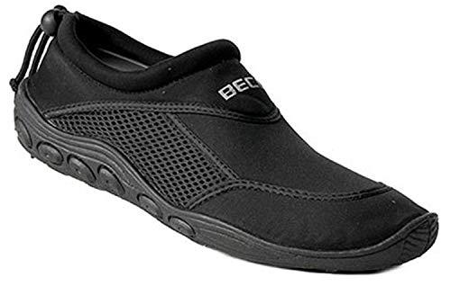 BECO Surfschuhe Bade Schuhe Herren Sneaker Aqua Beachschuhe schwarz Gr 47
