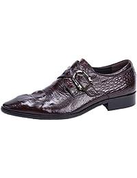 Herring Chaucer - Zapatos de Cordones Para Hombre Marrón Cocodrilo Negro, Color Marrón, Talla 40 EU