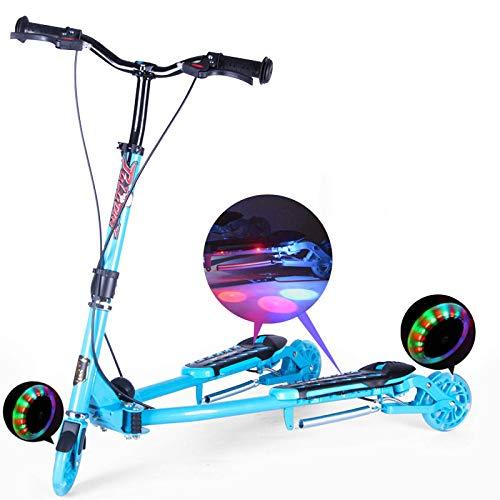 Dreiradscooter mit einem Klick 3 PU-Blinkräder-Roller falten für 5-14 Jährige