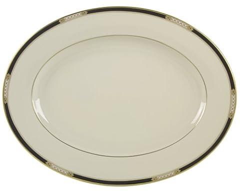 Lenox Hancock 13-Inch Gold-Banded Fine China Oval Platter