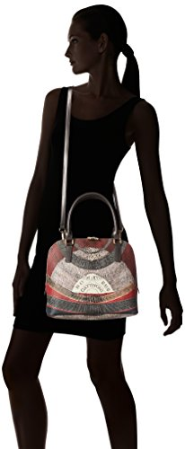 Gattinoni Damen Gplb017 Shopper, 14 X 27,5 X 31,5 Cm Grau (tibetano)