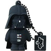 Tribe Disney Star Wars Darth Vader USB Stick 16GB Pen Drive USB Memory Stick Flash Drive, Gift Idea 3D Figure, PVC USB Gadget with Keyholder Key Ring - Black