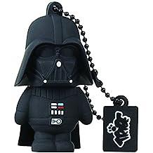 Tribe Disney Star Wars Darth Vader (Dart Fener) Chiavetta USB da 16 GB Pendrive Memoria USB Flash Drive 2.0 Memory Stick, Idee Regalo Originali, Figurine 3D, Archiviazione Dati USB Gadget in PVC con Portachiavi -