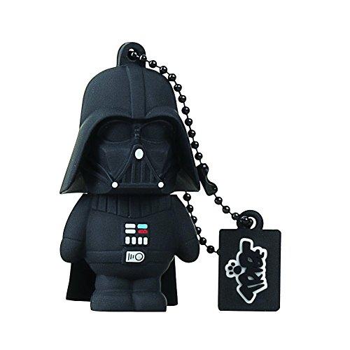 Star Wars Tribe Star Wars Pendrive Figure 16GB Funny USB Flash Drive 2.0, Keyholder Key Ring, Darth Vader, Black