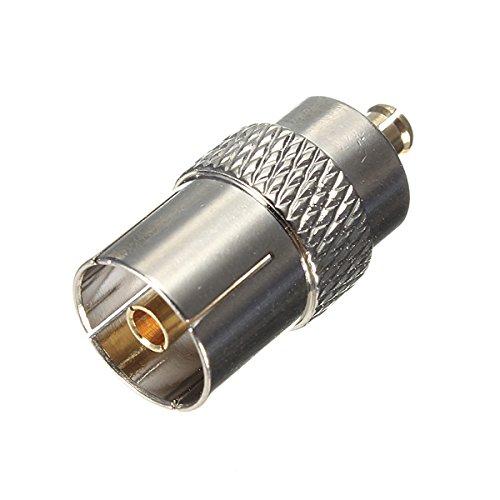 KUNSE IEC DVB-T TV PAL Female Jack zu MCx Male Plug RF Adapter Connector