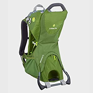 LittleLife Adventurer S2 Child Carrier Manduca This baby carrier grows with your child from newborn to toddler: Infinitely adjustable seat (16 -50cm width) without buttons, knots, velcro or cord system. Innovative tension arches support baby's spine & hip Three height options thanks to the patented back extension & integrated Zip-in. Multifunctional headrest (classic hood or rolled up as neck support). No infant insert / accessories needed. One size Three carry positions (belly-to-belly, backpack and hip-seat). Not intended for forward facing. Supports the M-position 7