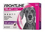 Frontline   TriAct Spot On Cani   Protezione da pulci, zecche, mosche cavalline pappataci   3 Pipette   Cane L (20 - 40 Kg)