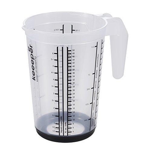 keeeper Messkanne mit Anti-Rutsch-Funktion, 1,5 l, Massimo, Graphit Grau (1 5 Cup Messbecher)
