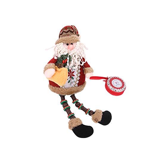 Natale babbo natale seduto figura natale decorazione ornamento peluche babbo natale giocattolo bambola vigilia di natale regalo vetrina casa decorazioni di natale decorazioni per l'albero di natale