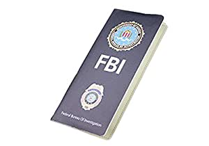 Creative FBI Style portefeuille Male femelle Portefeuille long avec fermeture pour carte d'identité de visite