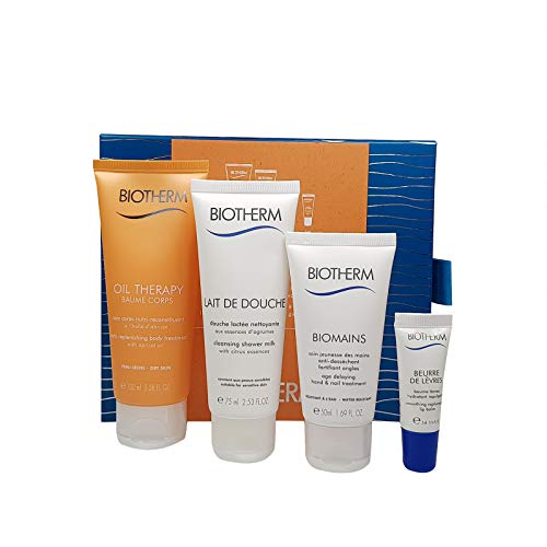 Biotherm Oil Therapy Baume Corps 100 mL Body Lotion 75 mL Duschgel 50 mL Biomains Handcreme 5 mL Lippenbalsam