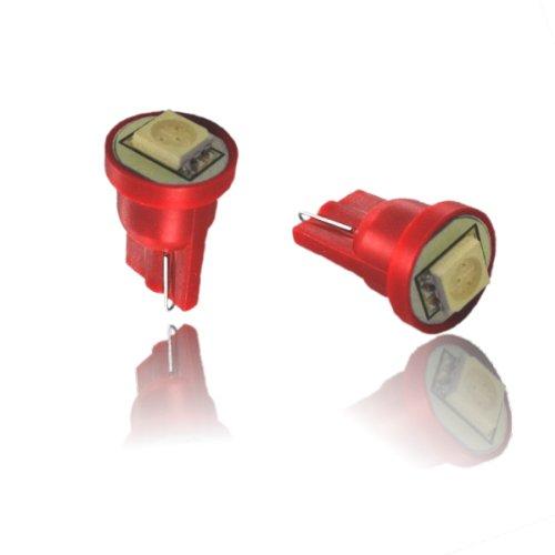 Akhan T10SR Lampe LED rouge, T10, W5W, 12V