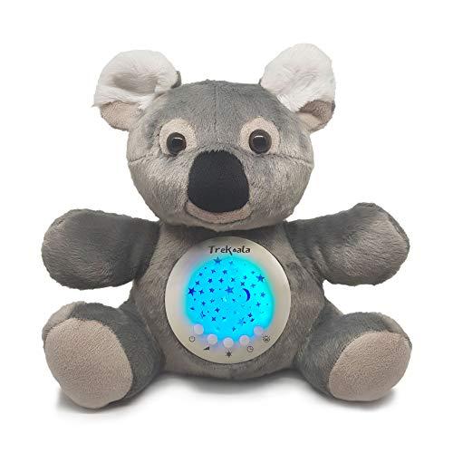 TreKoala Weißes Rauschen für Neonato - Sensor Cry-Baby - USB-Ladegerät, Spieluhr für Neugeborene, LED-Sterne, Geschenk für Neugeborene - Nachtlicht - Plüsch - Kinderbett - Stubenwagen