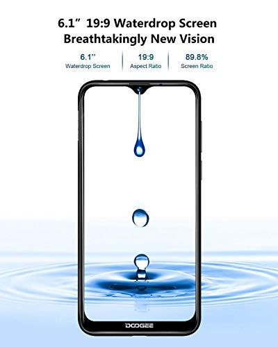 Télephone Portable débloqué Pas Cher 4G, DOOGEE Y8 2019 Smartphone Android 9,0 Mobile 6,1Pouces 19.9 HD+ Goutte d'eau, 3Go+16Go MT6739 Dual ... 9