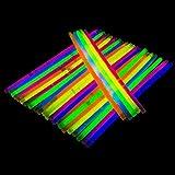 Trimming Shop 50 Leuchtstäbe mit Steckern Neon Glühend Armbänder für Party Zubehör, Geburtstag, Hochzeitsandenken, Unterschiedliche Farben Leuchtstäben