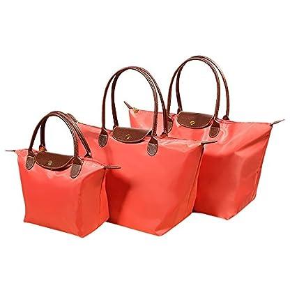 Fletion-Nylon-Wasserdichte-Damen-Handtasche-Schulterhandtaschen-Schulter-Faltbare-Einkaufstten-Reisetasche-EINWEG-Verpackung
