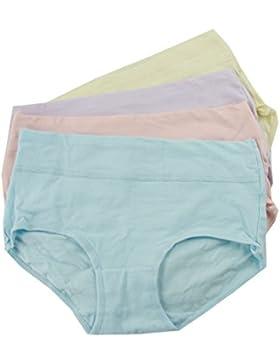DWLWSL Pack 4 Mujer Señora Ropa Interior Escritos Pantalones Cortos Cómodo Caja De Regalo Lindo Dulce,Multi-colored-XL
