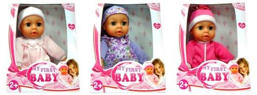Bayer Design 92001 - Babypuppe My first Baby, mit Schlafaugen, weichem Körper, 20 cm groß, (3-fach sortiert, zufällige Auswahl)