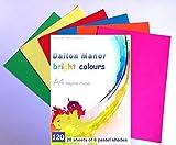 Dalton Manor - Confezione da 120 fogli di carta da 80 g/m², formato A4, 6 colori vivaci assortiti
