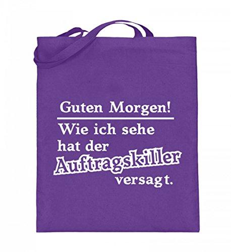 Hochwertiger Jutebeutel (mit langen Henkeln) - Auftragskiller Violett